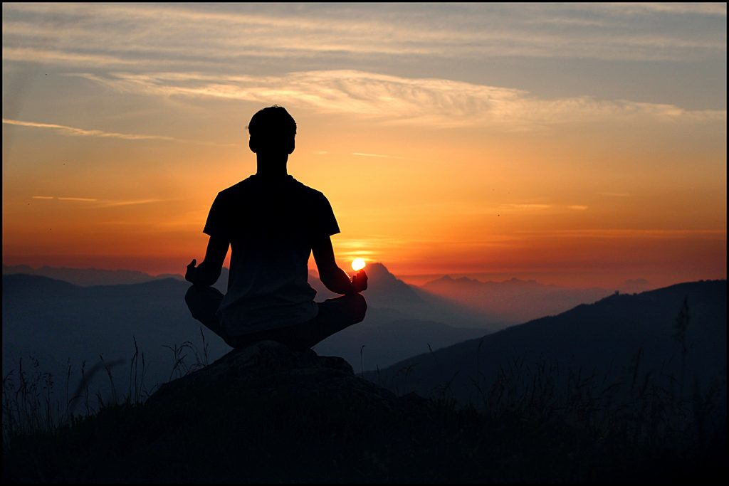 meditation-at-sunset